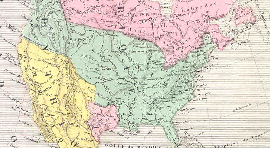 Map Of America In 1861.World Maps By Victor Levasseur 1861