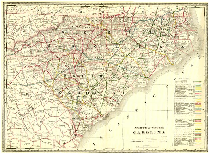 Antique Railroad Maps  United States And Canada