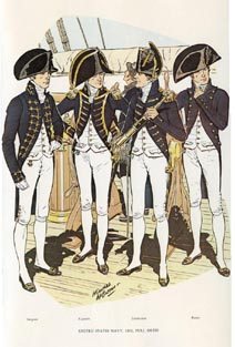 US Naval Uniforms Print (No. 61300003)