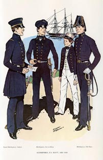 US Naval Uniforms Print (No. 61300009)