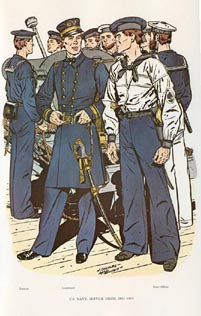 US Naval Uniforms Print (No. 61300010)