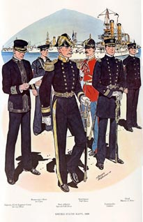 US Naval Uniforms Print (No. 61300012)