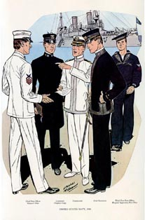US Naval Uniforms Print (No. 61300013)