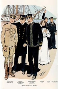 US Naval Uniforms Print (No. 61300014)