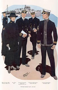 US Naval Uniforms Print (No. 61300017)
