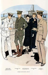 US Naval Uniforms Print (No. 61300018)