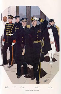 US Naval Uniforms Print (No. 61300019)