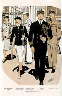 US Naval Uniforms Print (No. 61300023)